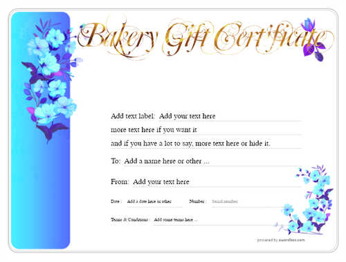 bakery gift certificate style8 blue template image-177 downloadable and printable with editable fields