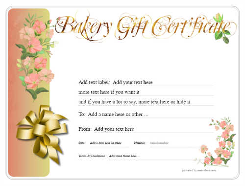 bakery gift certificate style8 red template image-174 downloadable and printable with editable fields