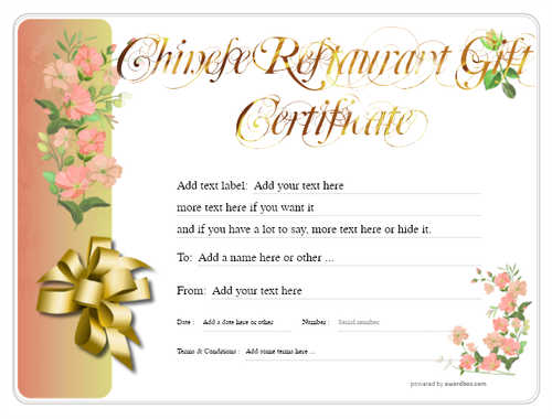 chinese restaurant gift certificate style8 red template image-70 downloadable and printable with editable fields