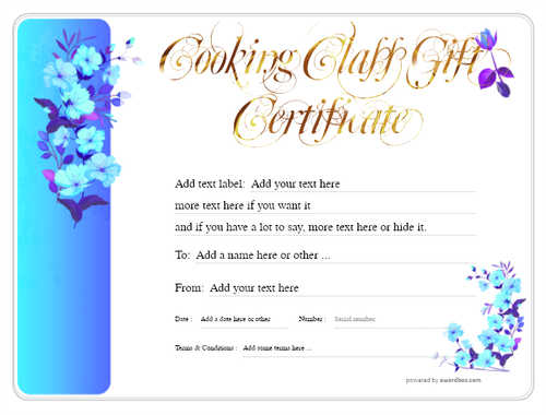 cooking class gift certificate style8 blue template image-229 downloadable and printable with editable fields