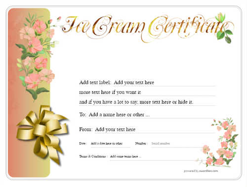 ice cream   gift certificate style8 red template image-252 downloadable and printable with editable fields