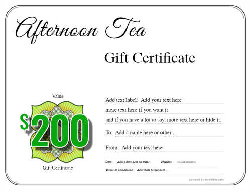 afternoon tea  gift certificate style1 default template image-82 downloadable and printable with editable fields