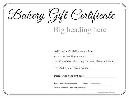 bakery gift certificate style1 default template image-159 downloadable and printable with editable fields
