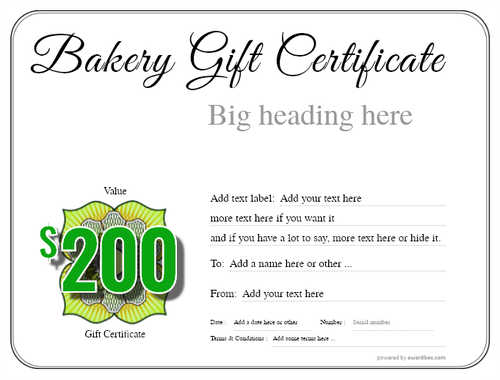 bakery gift certificate style1 default template image-160 downloadable and printable with editable fields