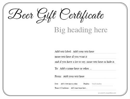 beer    gift certificate style1 default template image-185 downloadable and printable with editable fields