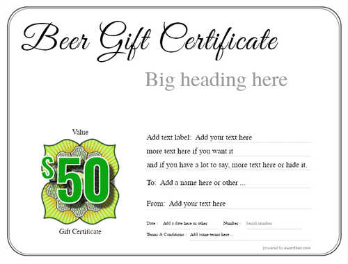 beer    gift certificate style1 default template image-186 downloadable and printable with editable fields