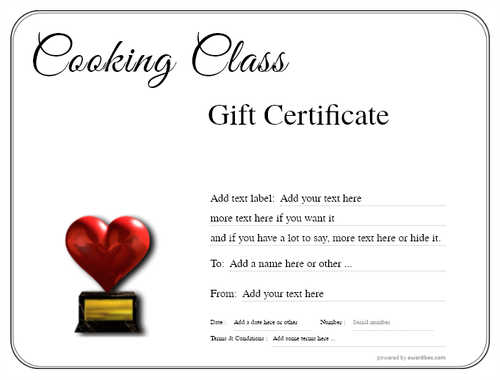 cooking class gift certificate style1 default template image-210 downloadable and printable with editable fields
