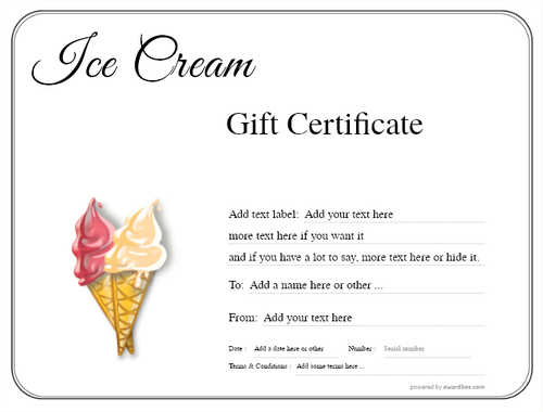 ice cream gift certificate style1 default template image-236 downloadable and printable with editable fields