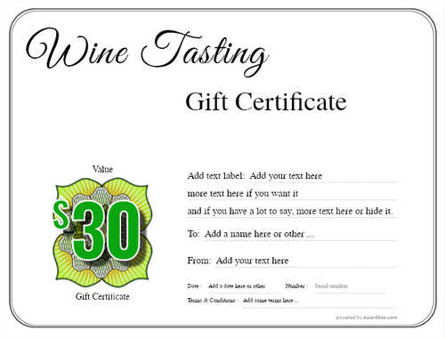 wine tasting gift certificate style1 default template image-264 downloadable and printable with editable fields