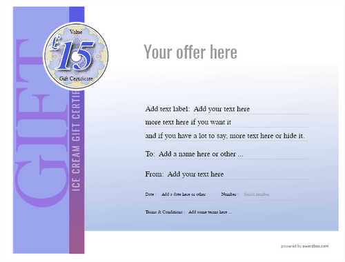 ice cream   gift certificate style3 blue template image-241 downloadable and printable with editable fields
