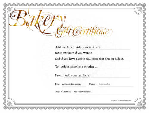 bakery gift certificate style4 default template image-165 downloadable and printable with editable fields