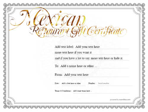 mexican restaurant gift certificates style4 default template image-34 downloadable and printable with editable fields