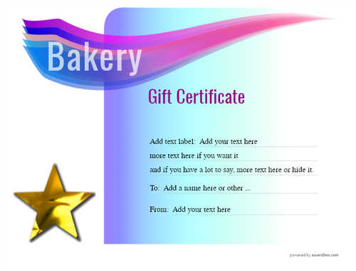 bakery gift certificate style7 blue template image-173 downloadable and printable with editable fields