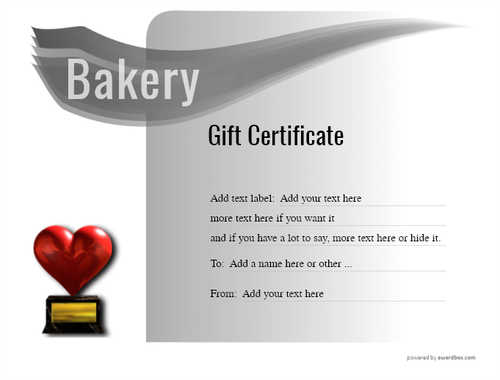 bakery gift certificate style7 default template image-170 downloadable and printable with editable fields