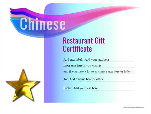 chinese restaurant gift certificate style7 blue template image-69 downloadable and printable with editable fields