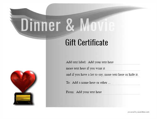dinner and a movie gift certificate style7 default template image-144 downloadable and printable with editable fields