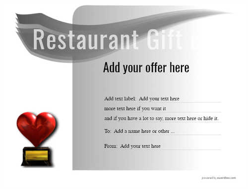 restaurant  gift certificate style7 default template image-13 downloadable and printable with editable fields