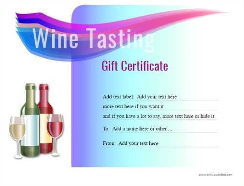 wine tasting gift certificate style7 blue template image-277 downloadable and printable with editable fields