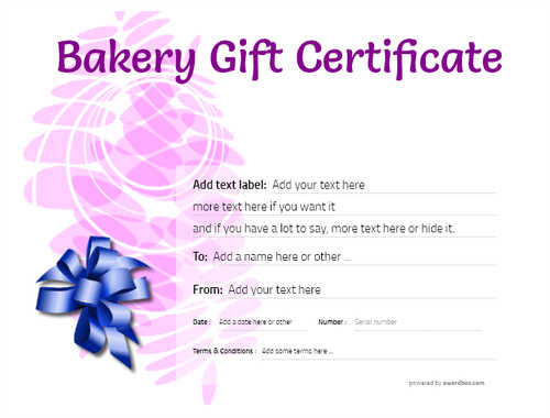 bakery gift certificate style9 purple template image-178 downloadable and printable with editable fields