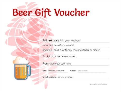 beer    gift certificate style9 red template image-205 downloadable and printable with editable fields