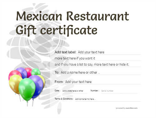 mexican restaurant gift certificates style9 default template image-49 downloadable and printable with editable fields