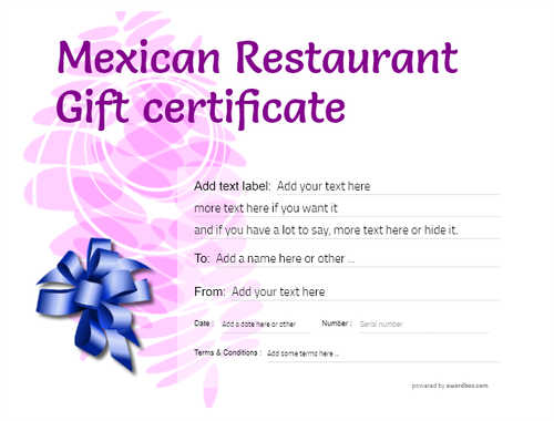 mexican restaurant gift certificates style9 purple template image-47 downloadable and printable with editable fields