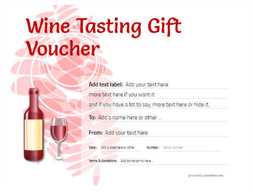 wine tasting gift certificate style9 red template image-283 downloadable and printable with editable fields