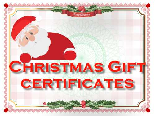 a catalog of free christmas gift certificate templates for the festive season