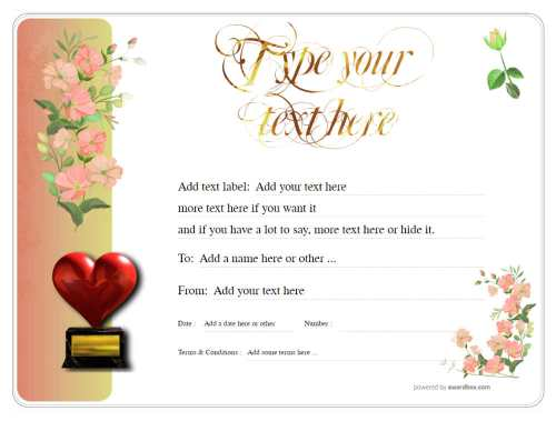 free editable gift certificate with delicate flower design for download and printable, fully customizable