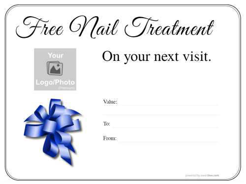 free editable manicure and pedicure gift voucher on a simple black border design suitable for printing and download