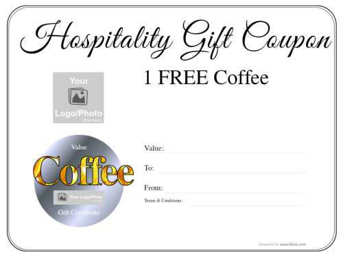 a free coffee modern design customizable gift certificate free and printable with serial number