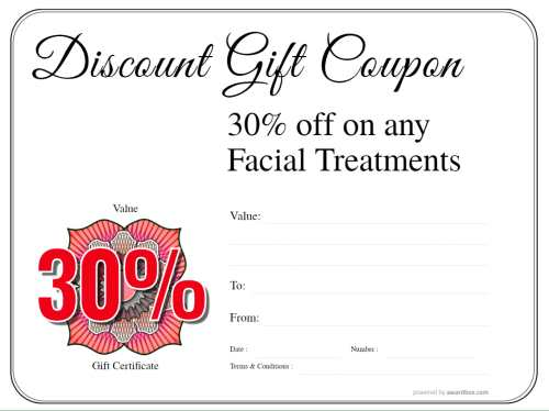 simple black border spa discount coupon gift template, for free customization and download with editable badge decorations
