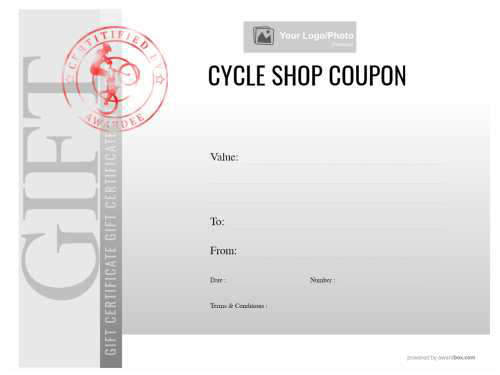 printable business or shop gift certificate coupon in a modern green design with fully customizable text and graphics