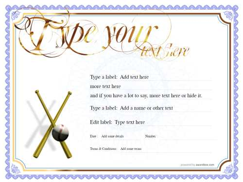 downloadable classic blue border on white background free blank gift template with gold swirling script heading