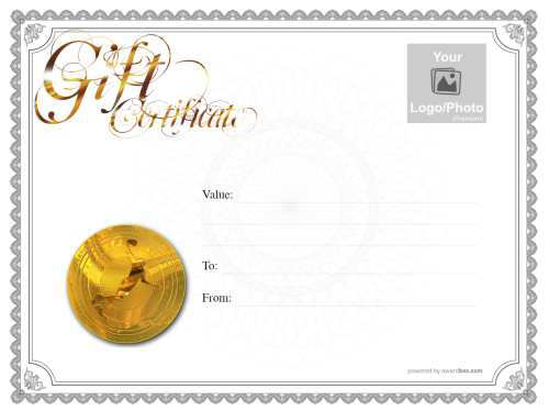 traditional border with watermarked background printable gift certificate with gold script heading and basketball medalion
