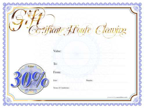 classic design free printable house cleaning businessgift certificate with red border customizable template and serial number