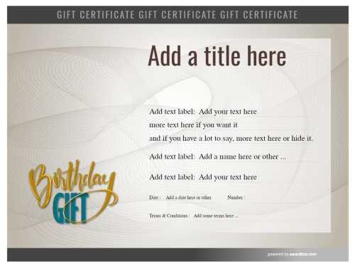 fully customizable gift certificate template for birthday gift with interchangeable images free to download and print