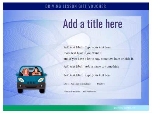 editable cash voucher template for driving lessons. free to use unlimited for commercial and home