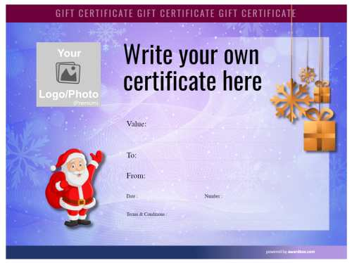free christmas gift  coupon template of heavily colored snowflake watermark vignette background with santa for print