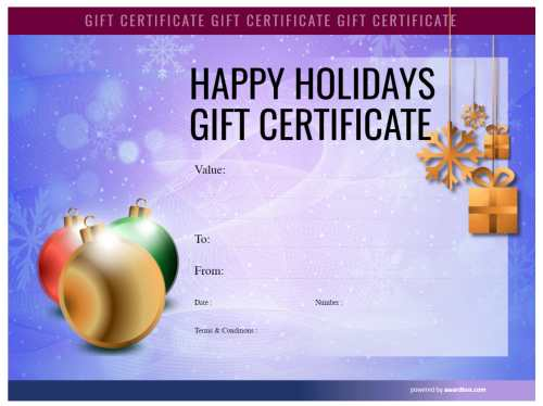 watermarked snowflake vignette christmas template background in blue, editable and free for commercial use gift certificate