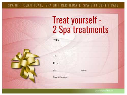 edge to edge red security background design, spa treatment gift certificate template. Edit and download for free to print