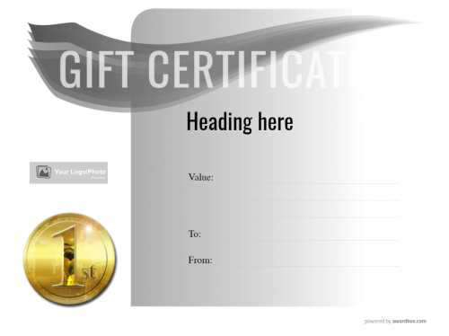 blank business gift certificate template with logo printable and free for commercial use with fully customizable designs