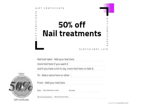 spa gift certificate simple editing template free for home and commercial use and download