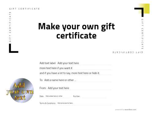 a free downloadable gift certificate template with fillable fields in a nice modern line-art design
