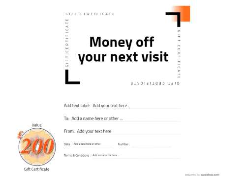 money off editable coupon template with option to add logo or photo and free ot download and print