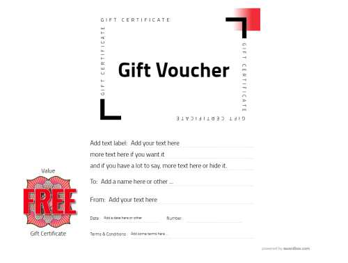 simple gift certificate customizable free template with editable decorations to print or download