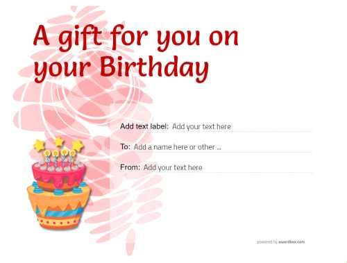 free customizable birthday gift certificate with editable backgrounds and decorations to print or download