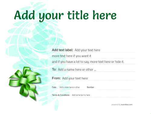 fully editable template free to edit, print and download for anything. modern green background design gift certificate.