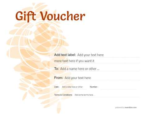 simple editable gift voucher, for free unlimited print or download, commercial and home use.